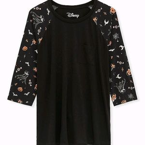 Disney Micky Mouse treat black raglan top